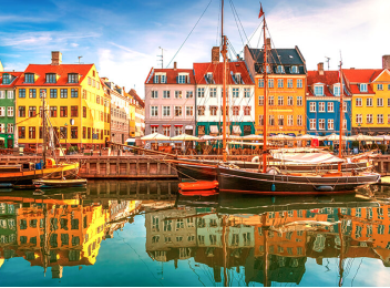 Image showing Copenhagen colourful port